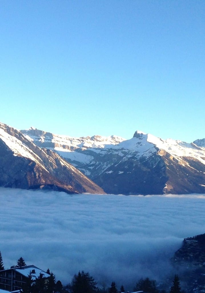 Sun and Cloud in Swiss Alps